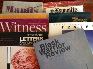 """Exhibits"" are published in various literary journals."