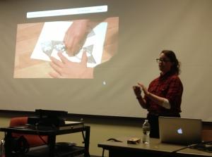 "Elizabeth Watkins, ""Folding"" (Intervention in Exhibit F)"
